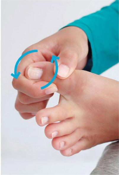 足のむくみをとる体操足指回し
