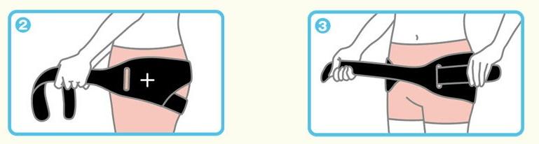 ワコール骨盤ベルトの付け方2